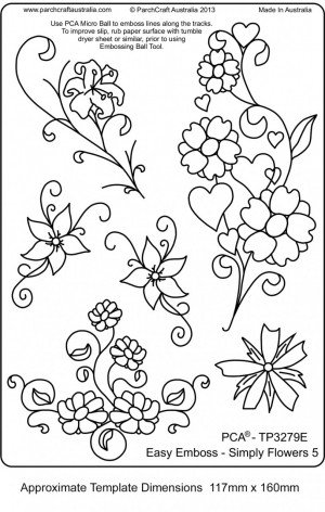 Commercial embroidery template from Australia.