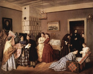 """The Dowry"" by the Russian painter Vasili Pukirev (1832-1890), 1873."