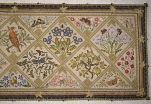 Embroidery made by Grace Christie, dated 1914.