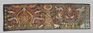 Beadwork 'Ship Cloth' from Lampung, Sumatra, Indonesia, probably 18th century.