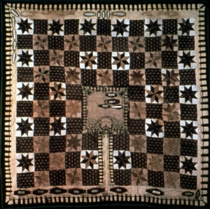 Graveyard, or coffin quilt, mid-19th century, USA.