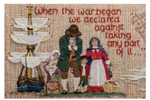 Fragment of the Quaker tapestry.