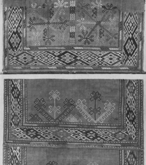 Pair of embroidered sleeves from 19th century Armenia.