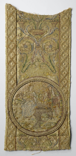 Gold and silver embroidered orphrey from the Netherlands, c. 1550.