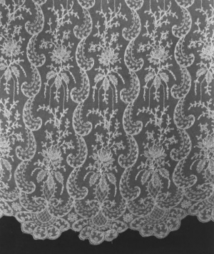 Machine embroidered net lace, Germany/Switzerland, late 19th century