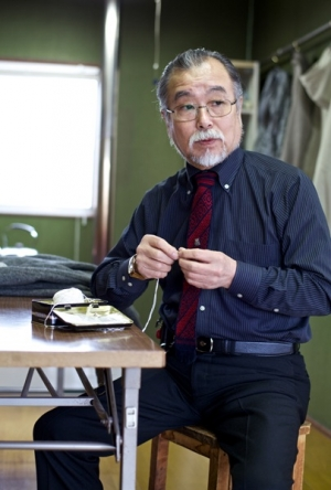 Mr. Sadaharu Narita, President of the Hirosaki Kogin Institute since 1982.