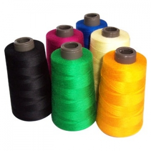Bobbins with rayon thread.