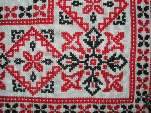 Example of cross stitch embroidery.