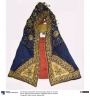 Richly decorated wedding or coronation cape from Abyssinia, mid-19th century.