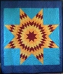 Example of a native North American star quilt.