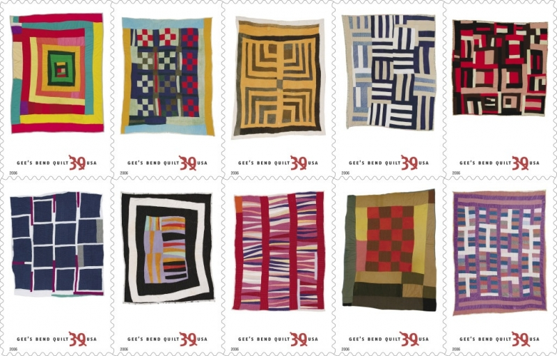 Gees Bend Quilts Postage Stamps