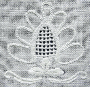 Example of Hvidsøm embroidery.