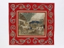 Inlay patchwork picture showing nostalic, rustic scene, Britain, mid-19th century.