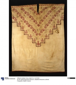 Embroidered man's shirt from Peru, (late) 19th century.