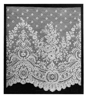 Example of 19th century Mechlin lace.