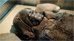 The so-called Loulan mummy, c. 2000 BC.