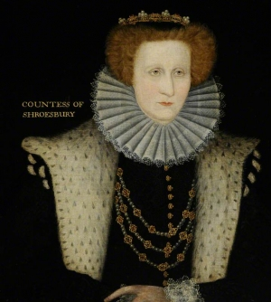 Bess of Hardwick (c. 1580), 1521-1608, by an unknown artist.