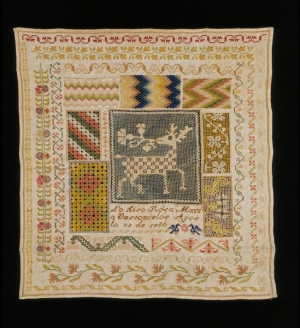 Sampler from Mexico, dated 1860.