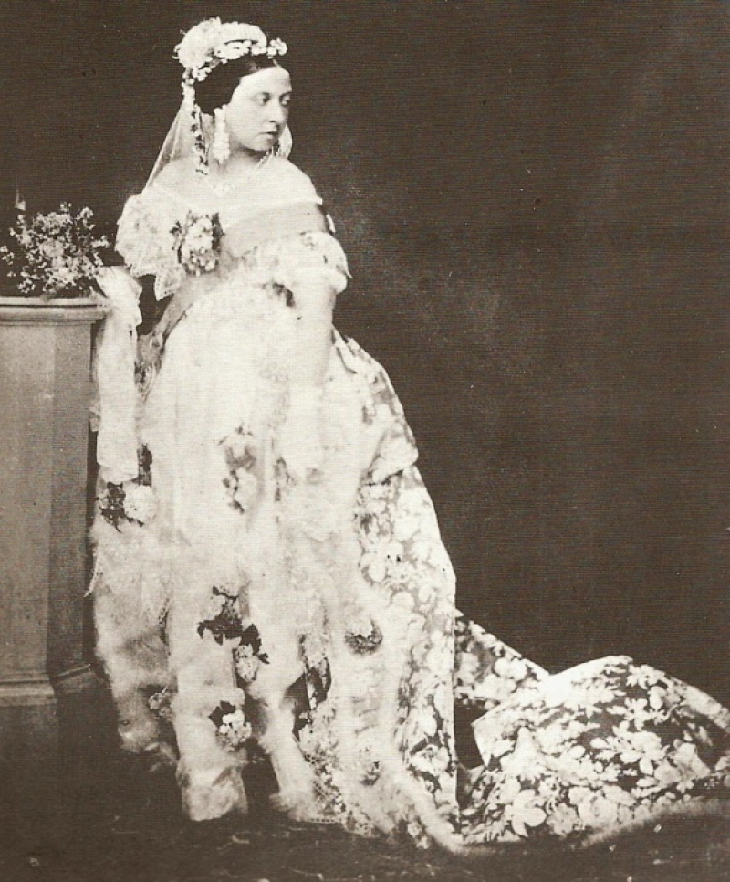 Photograph Of Queen Victoria Wearing Her Wedding Dress February 1840