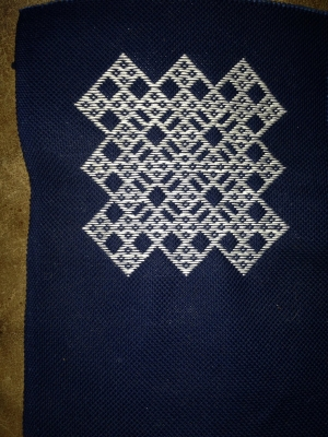 Example of kogin zashi embroidery, Japan