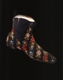 Pair of embroidered half-boots from England, mid-19th century.
