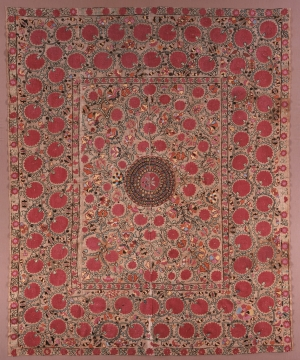 Suzani hanging from Uzbekistan, third quarter 19th century.