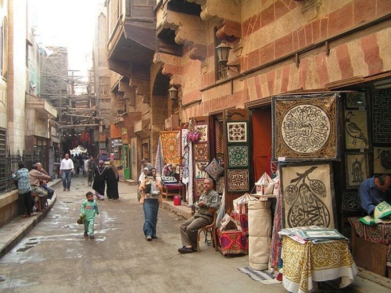 Street Of The Tentmakers Cairo Egypt
