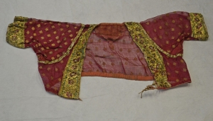 Bodice from India, late 19th century, with applied gold wire.