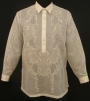 A barong togolok from the Philippines, made from piña fabric,