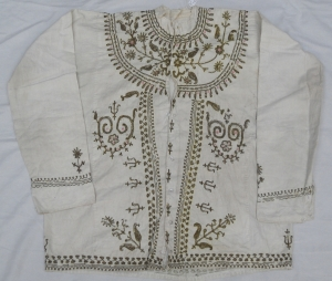 Woman's blouse with metal thread embroidery, Iran, early 20th century.