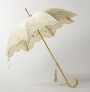 Embroidered parasol, acquired in the Netherlands, c. 1905-1910.