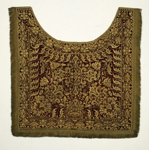 Saddle cloth from India, allegedly belonging to Tipu Sultan of Mysore, defeated by the British in AD 1799.