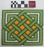 Example of Celtic cross stitch embroidery, worked on Aida.