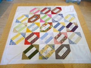 Example of autograph quilt.