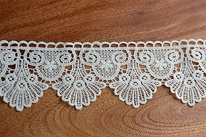 Modern white embroidered lace trimming