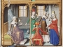 A 15th century depiction of a group of silkwomen.