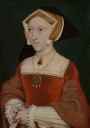 Jane Seymour, from the workshop ? of Hans Holbein the Younger (painted c. 1540). Mauritshuis, The Hague.