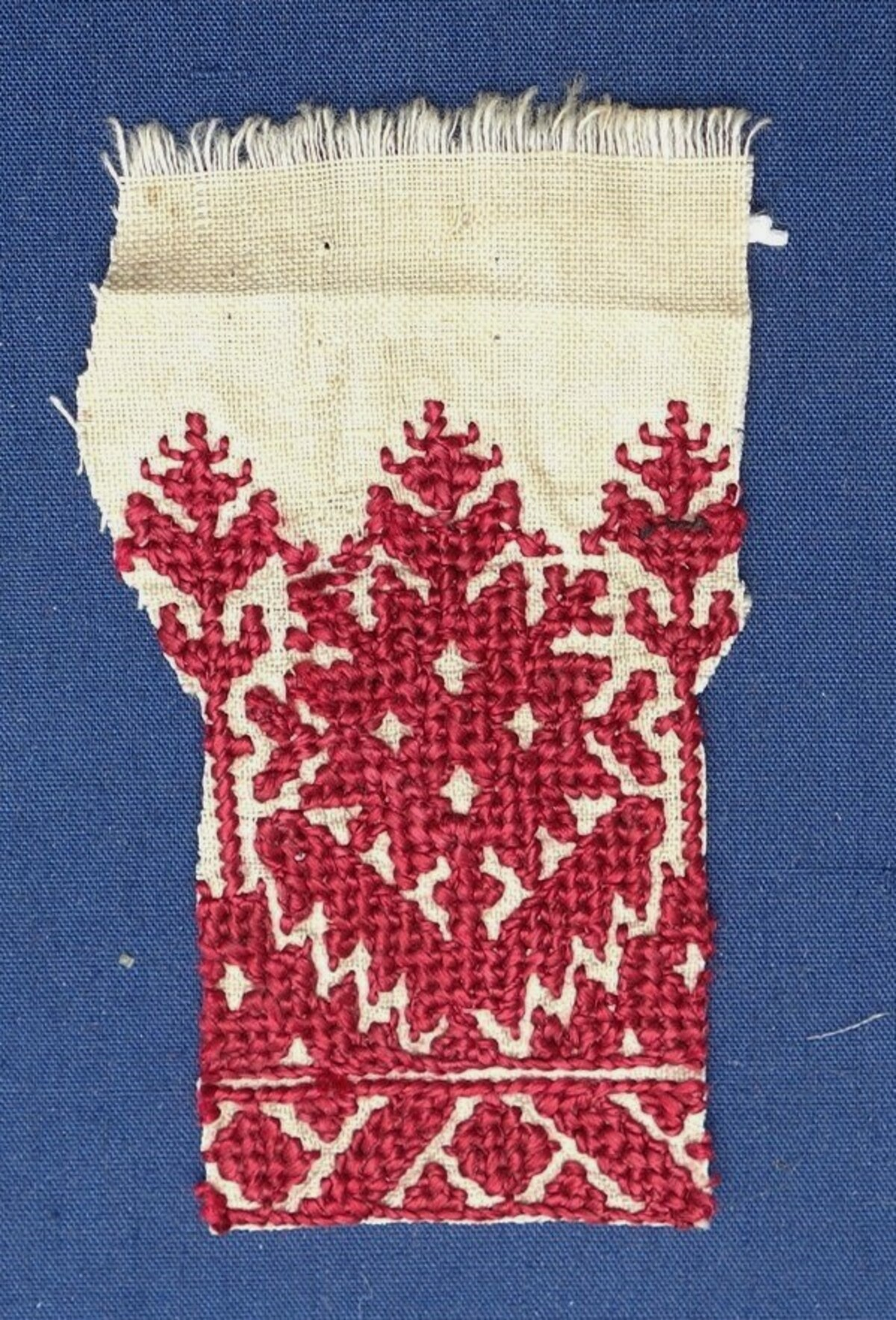 Embroidery sample from Fes, Morocco, 20th century (TRC 2019.1694).