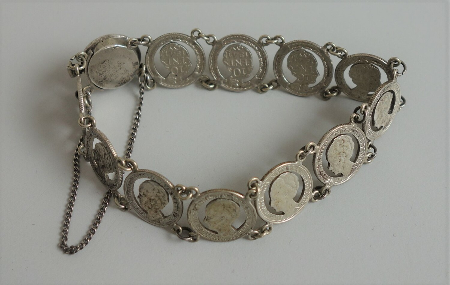 Bracelet made of silver Wilhelmina coins (TRC 2020.2714).