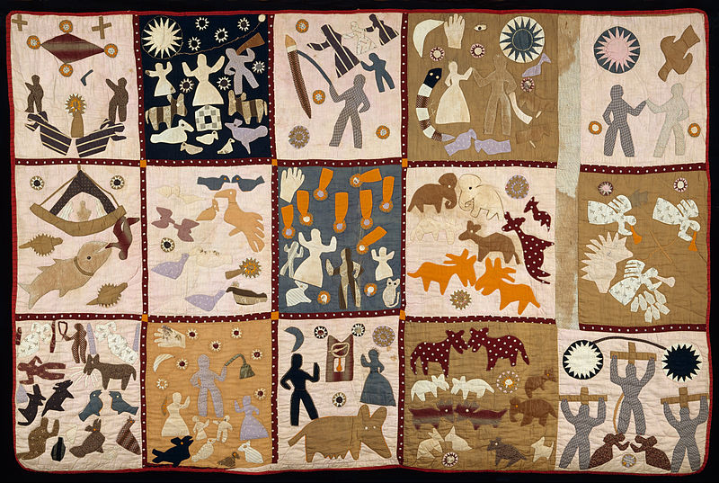 The Pictorial Quilt, worked by Harriet Powers, and completed in 1898.