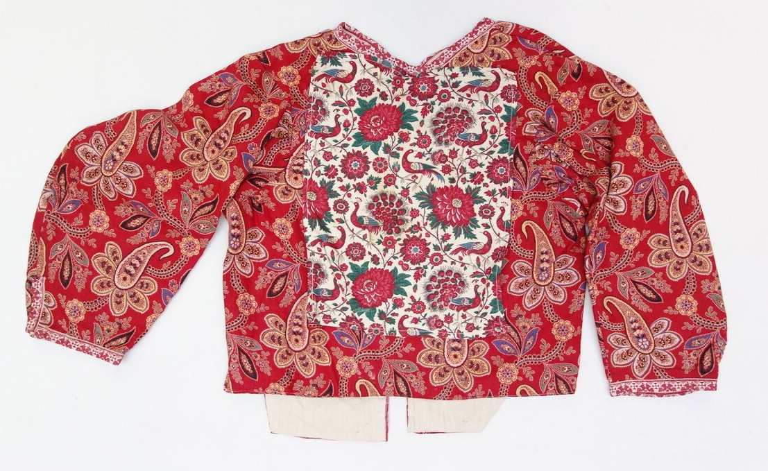 Jacket from the Dutch island of Marken, decorated with Indian-style material, 1937 (TRC 2007.0525c).