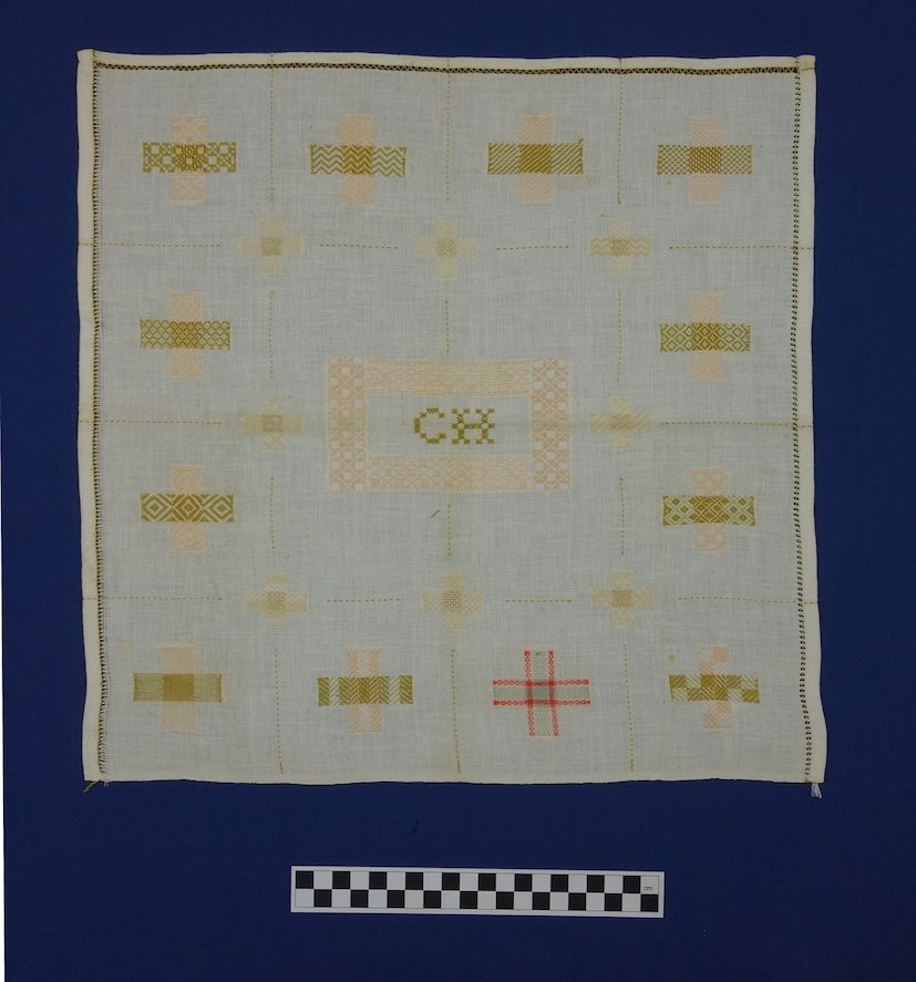Dutch darning sampler, early 20th century. TRC 2014.1006