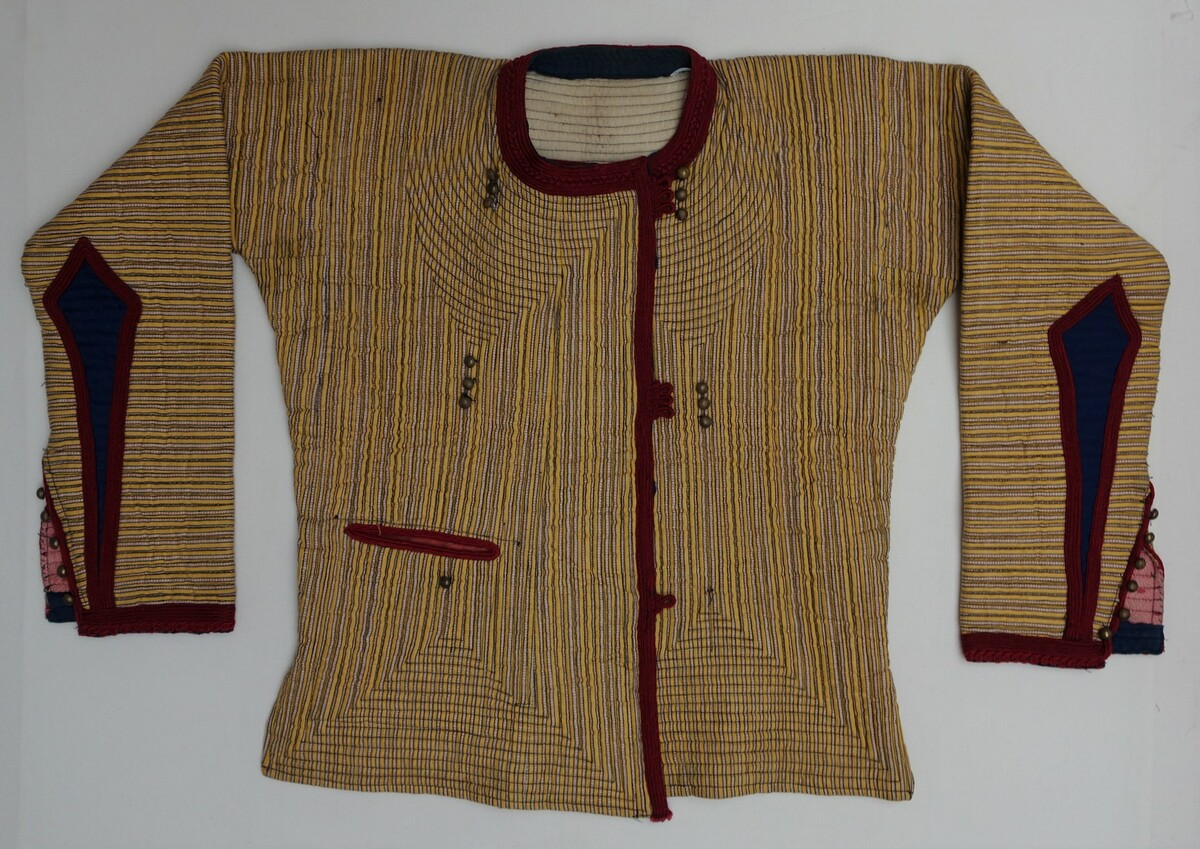 Quilted jacket from he Balkans. Mid-20th century. TRC Collection (TRC 2018.0283).