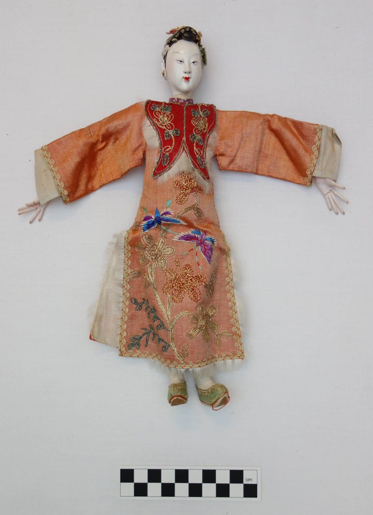 Chinese female doll, 1920s or 1930s (TRC 2019.0195).