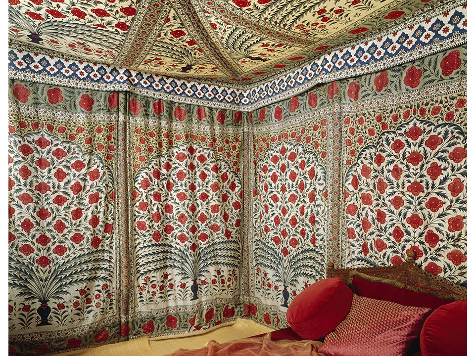 The tent of Tipu Sultan, India, late 18th century. From: http://blog.toryburch.com/wp-content/uploads/2015/10/Blog_10.6_FabricsOfIndia_960_8.jpg