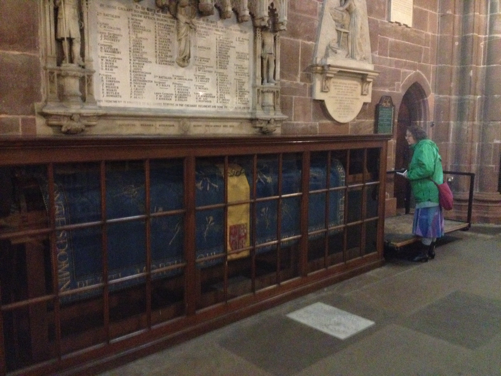 Chester cathedral, embroidered hearse cloth
