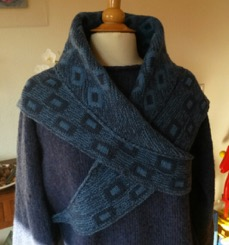 Example of a double knitted shawl.