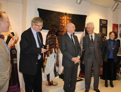 Opening of the TRC exhibition on Arab embroidery, on 9th March, 2010.