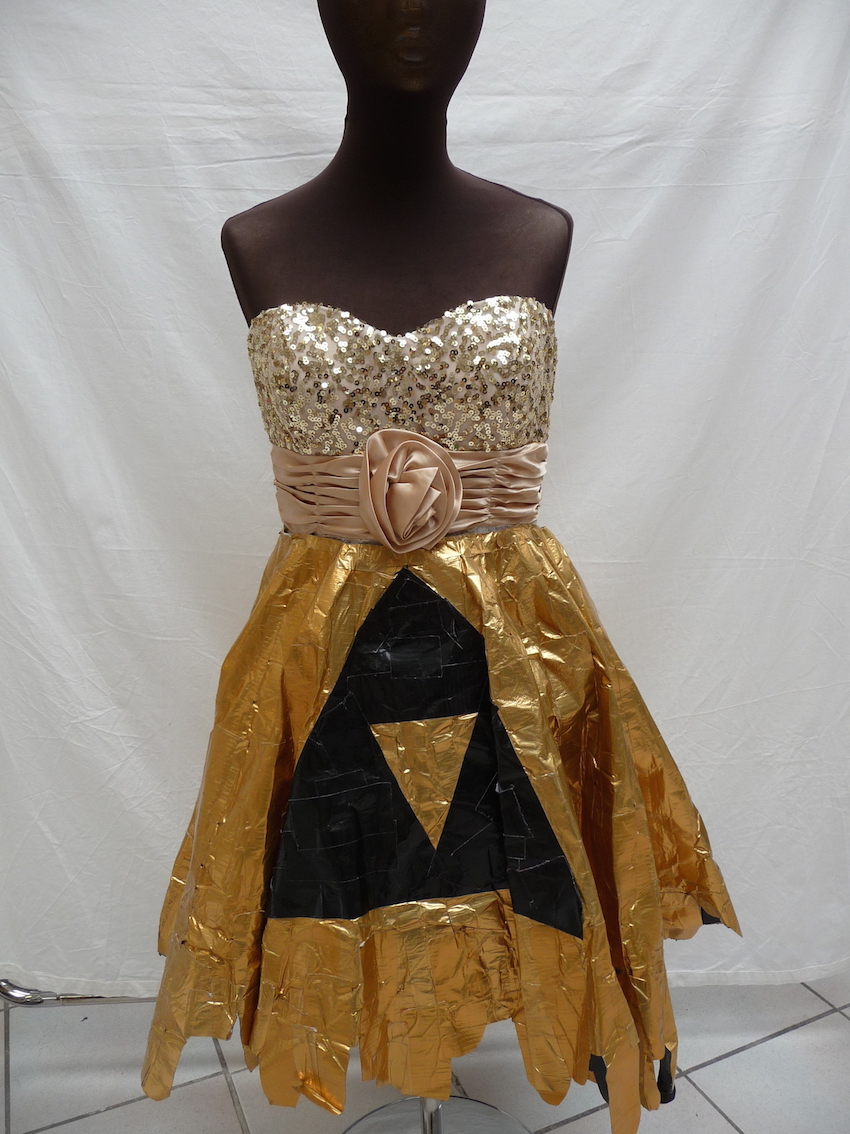 Duct tape dress. TRC collection.