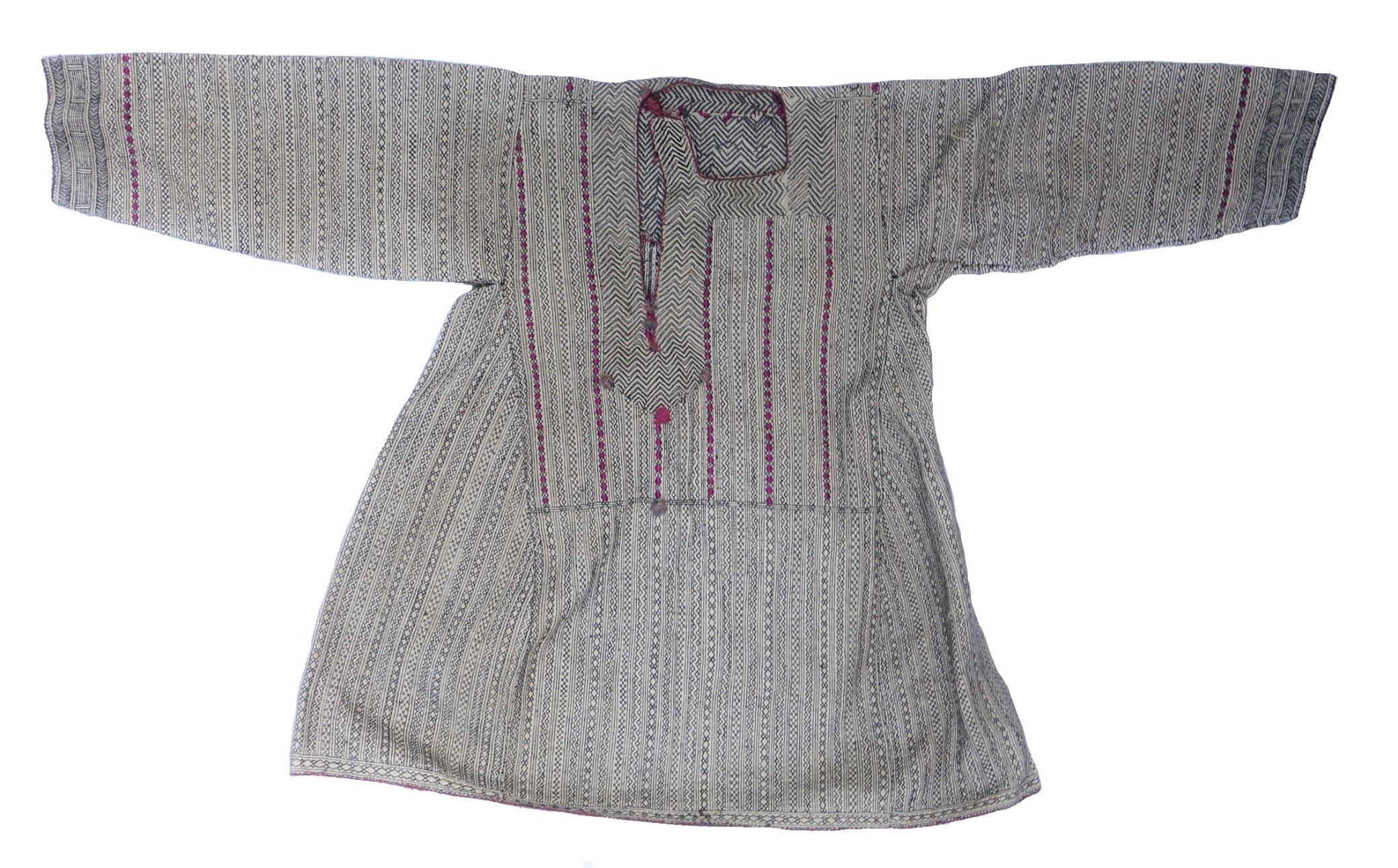 A quilted shirt for a Pashai man, Afghanistan (TRC 2018.2581).